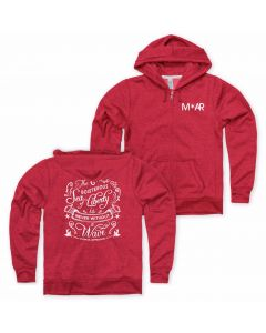 Ladies ''Sea of Liberty'' Red Zipper Hooded Sweatshirt