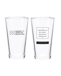Hamilton Quote Pint Glass