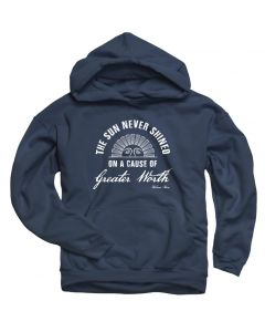 Youth ''The Sun Never Shined On A Cause Of Greater Worth'' Navy Hooded Sweatshirt