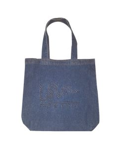 Large Denim Tote with ''Join or Die'' Logo