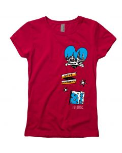 Girls Red Philadelphia Tee