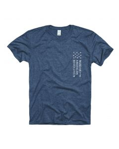 Adult Heather Navy Museum Logo Tee