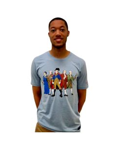 Adult Light Blue ''Revolutionary Superheroes'' Tee